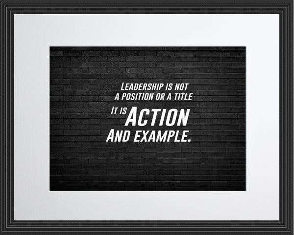 Leadership Is Not Sportsmanship Poster, Print, Picture or Framed Photograph