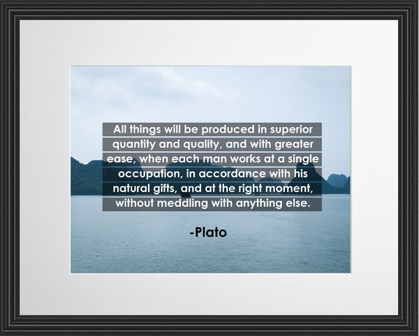 Plato All Things Will Poster, Print, Picture or Framed Photograph
