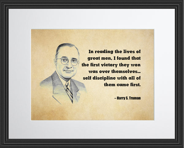 Harry S Truman In Reading The Poster, Print, Picture or Framed Photograph