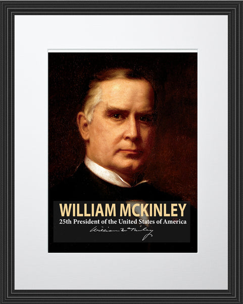 William McKinley 25th President Poster, Print, Picture or Framed Photograph