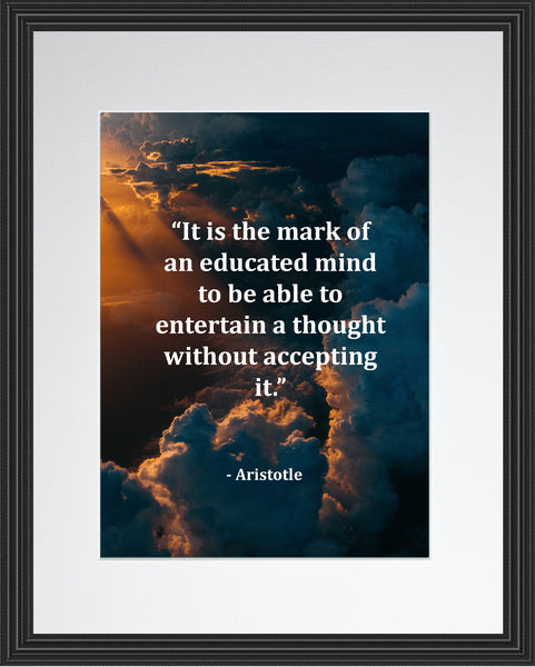 Aristotle It Is The Poster, Print, Picture or Framed Photograph