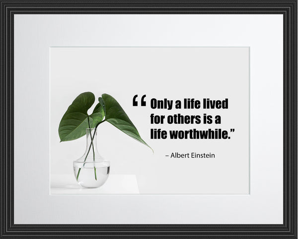 Albert Einstein Only A Life Poster, Print, Picture or Framed Photograph