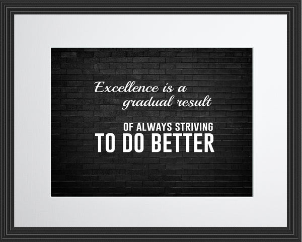 Excellence Is A Sportsmanship Poster, Print, Picture or Framed Photograph