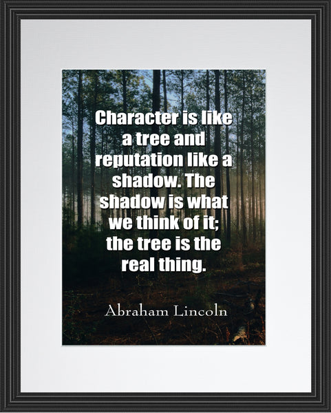 Abraham Lincoln Character Is Like Poster, Print, Picture or Framed Photograph
