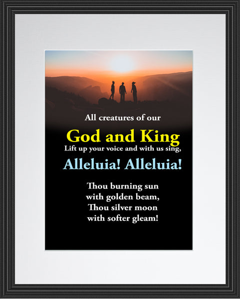 All Creatures Of Our God And King Hymn Poster, Print, Picture or Framed Photograph