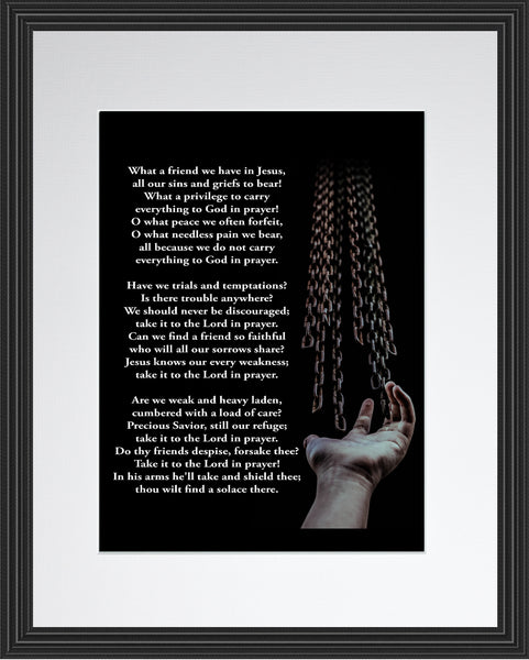 What A Friend We Have In Jesus Hymn Poster, Print, Picture or Framed Photograph
