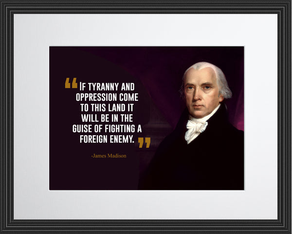 James Madison If Tyranny And Poster, Print, Picture or Framed Photograph