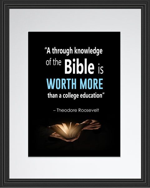 Theodore Roosevelt A Thorough Knowledge Poster, Print, Picture or Framed Photograph