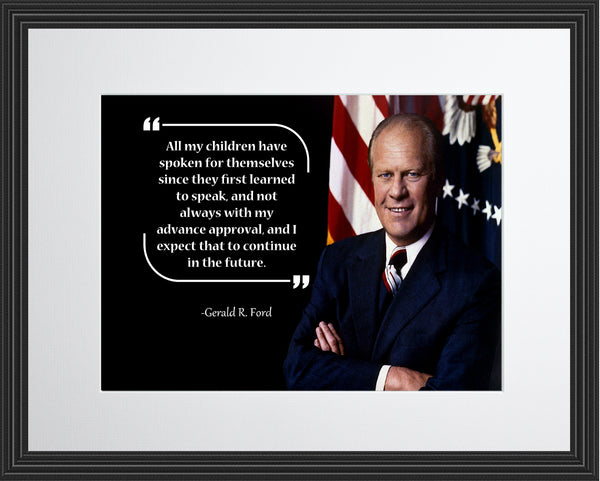 Gerald R. Ford All My Children Poster, Print, Picture or Framed Photograph