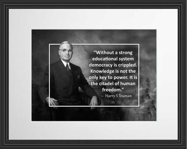 Harry S. Truman Without A Strong Poster, Print, Picture or Framed Photograph