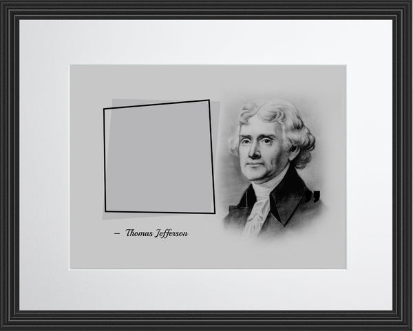 Thomas Jefferson Our Progress As Poster, Print, Picture or Framed Photograph
