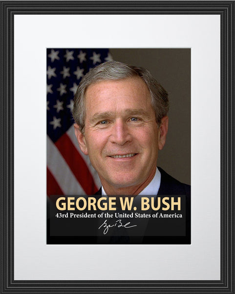 George H. W. Bush 43rd President Poster, Print, Picture or Framed Photograph