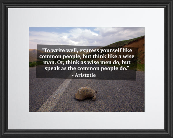 Aristotle To Write Well Poster, Print, Picture or Framed Photograph