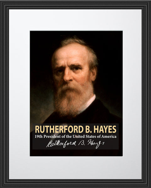 Rutherford B. Hayes 19th President Poster, Print, Picture or Framed Photograph