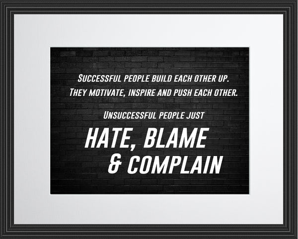 Successful People Build Sportsmanship Poster, Print, Picture or Framed Photograph