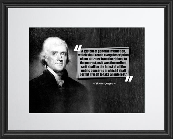 Thomas Jefferson A System Of Poster, Print, Picture or Framed Photograph