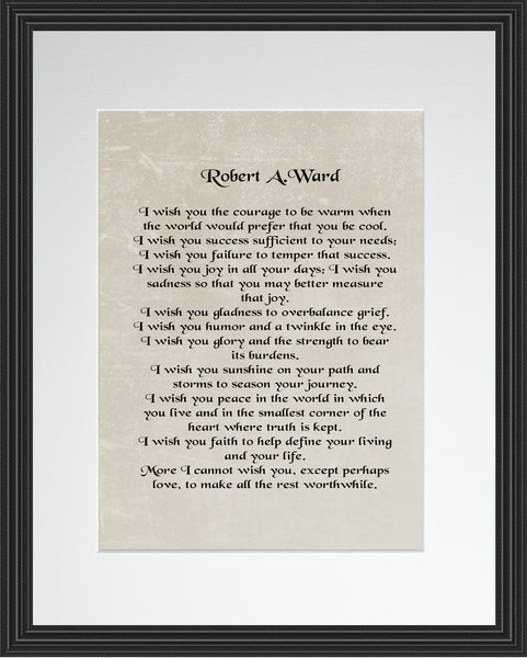 Robert A. Ward I Wish You Poster, Print, Picture or Framed Photograph