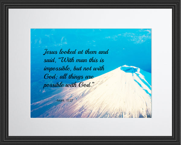 Mark 10:27 Jesus Looked At Poster, Print, Picture or Framed Photograph