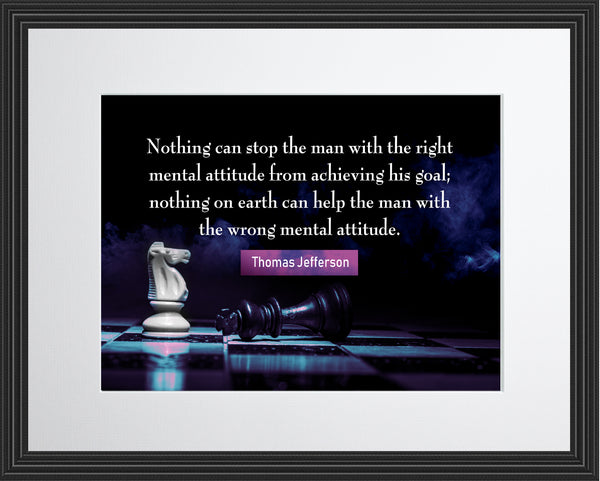 Thomas Jefferson Nothing Can Stop Poster, Print, Picture or Framed Photograph
