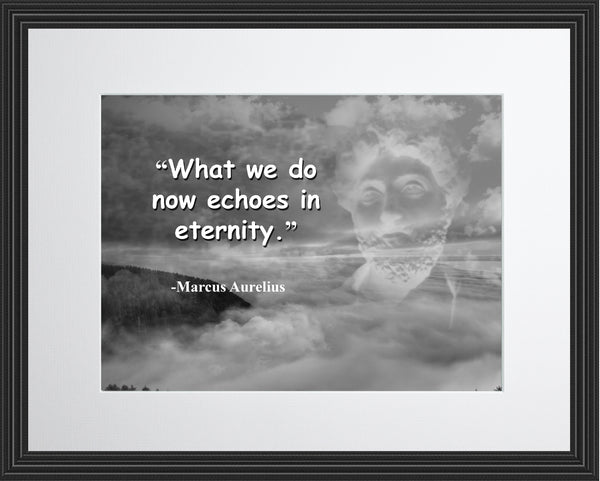 Marcus Aurelius What we do Poster, Print, Picture or Framed Photograph