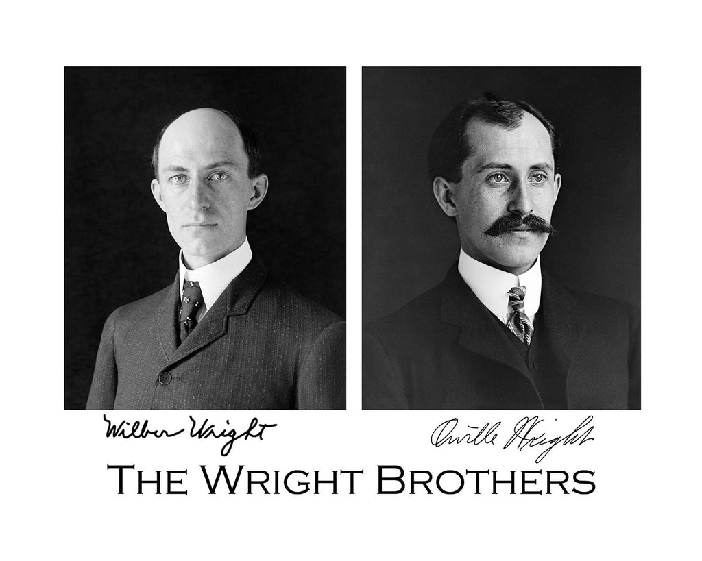 The Wright Brothers, Wilbur Wright and Orville Wright, 8x10 Photograph