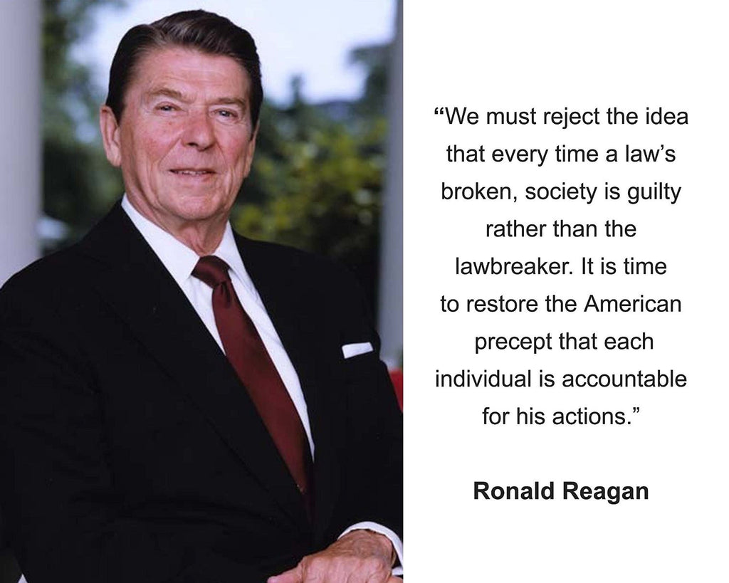 "Ronald Reagan ""We must reject"" Quote 8x10 Photo"
