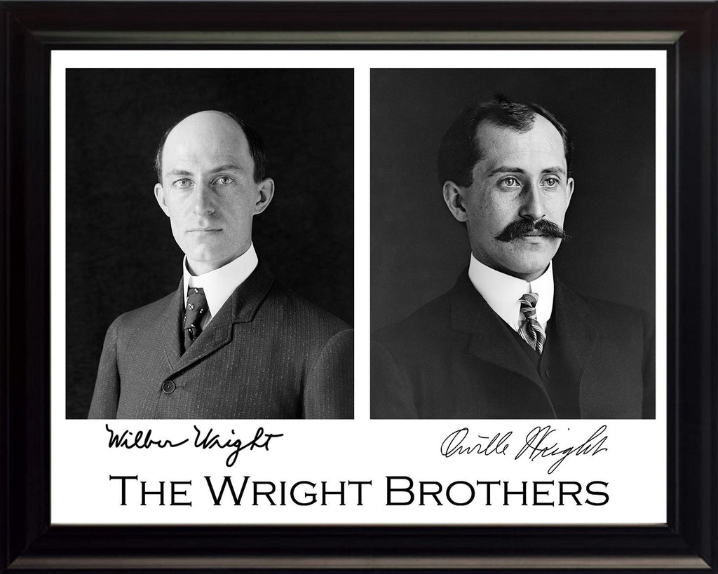 The Wright Brothers, Wilbur Wright and Orville Wright, 8x10 Framed Photograph