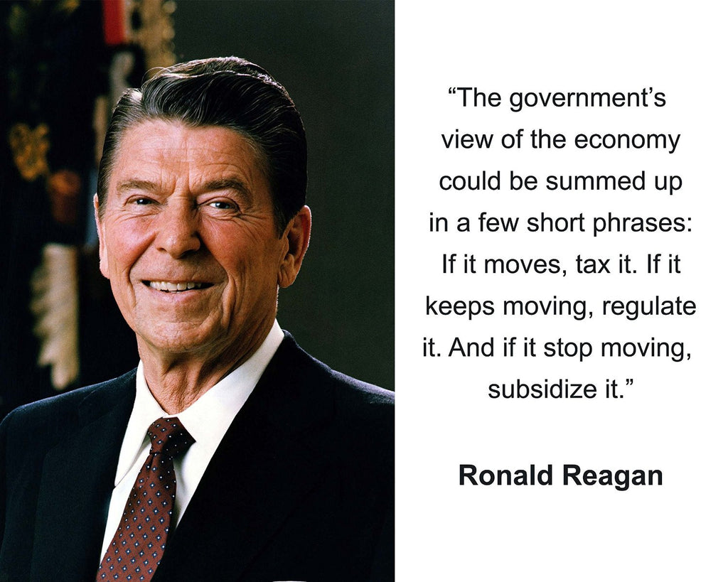 "Ronald Reagan ""The government's view"" Quote 8x10 Photo"