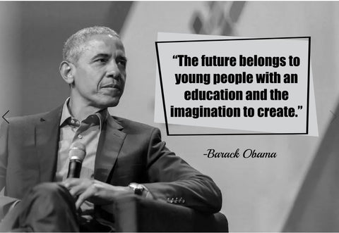 Barack Obama The Future Belongs Poster, Print, Picture or Framed Photograph