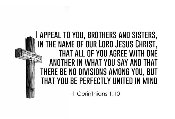 1 Corinthians 1:10 I Appeal To Poster, Print, Picture or Framed Photograph