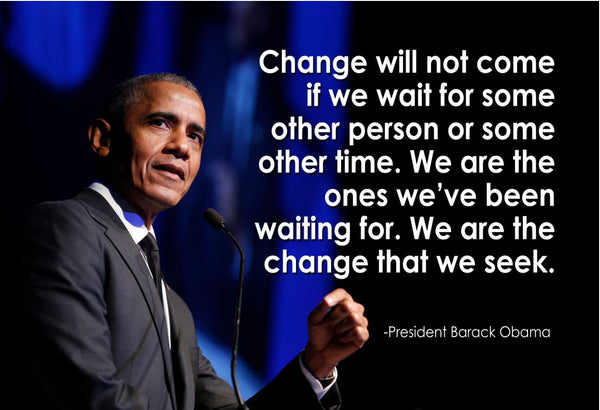 Barack Obama Change Will Not Poster, Print, Picture or Framed Photograph