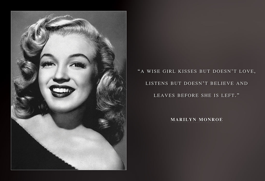 Marilyn monroe photo picture poster or framed famous quote a wise girl
