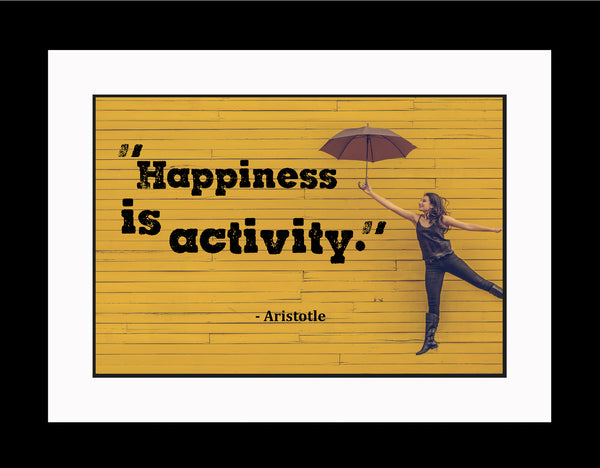 Aristotle Happiness Is Activity Poster, Print, Picture or Framed Photograph