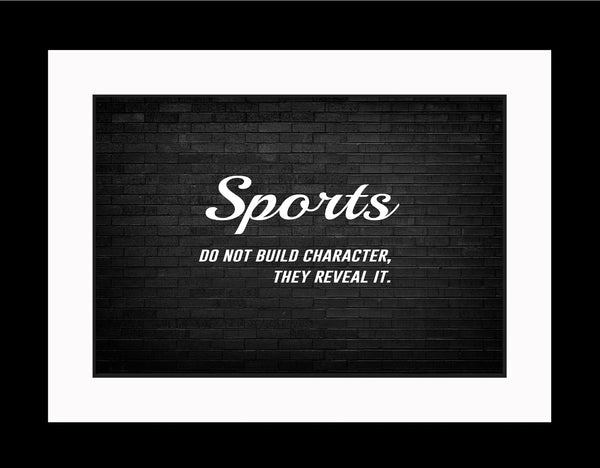 Sports Do Not Sportsmanship Poster, Print, Picture or Framed Photograph