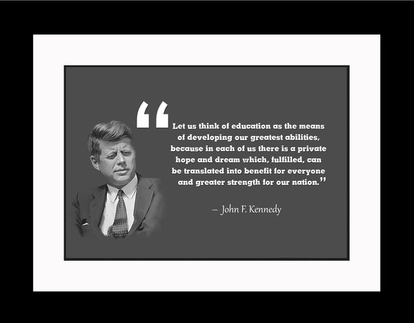 John F. Kennedy Let Us Think Poster, Print, Picture or Framed Photograph