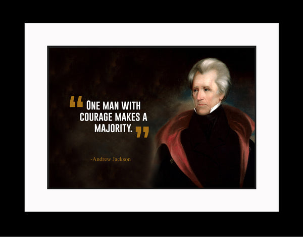 Andrew Jackson One Man With Poster, Print, Picture or Framed Photograph