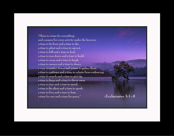 Ecclesiastes 3 A Time For Poster, Print, Picture or Framed Photograph