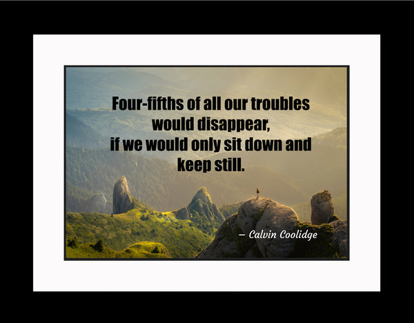 Calvin Coolidge Four-Fifths Poster, Print, Picture or Framed Photograph