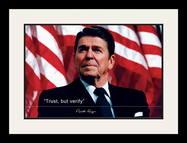 Ronald Reagan Framed Photo Picture 19x25