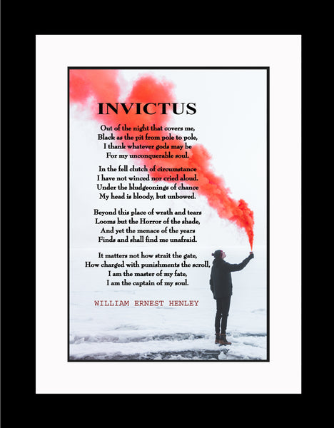 William Ernest Henley Invictus Poster, Print, Picture or Framed Photograph