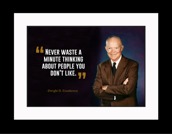 Dwight D. Eisenhower Never Waste A Poster, Print, Picture or Framed Photograph