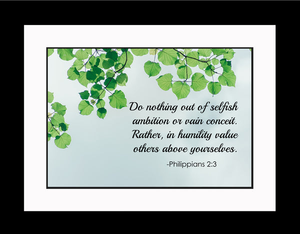 Philippians 2:3 Do Nothing Out Poster, Print, Picture or Framed Photograph