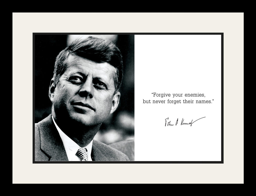John F Kennedy Jfk Poster Framed Photo Famous Quotes