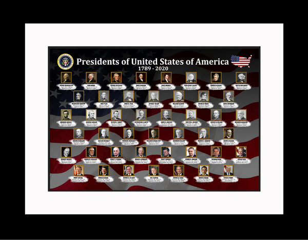 American Presidents Poster, Print, Picture or Framed Photograph
