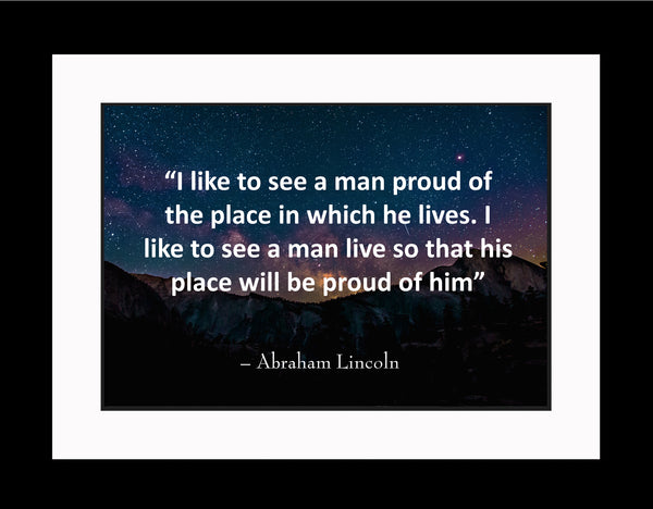 Abraham Lincoln I Like To Poster, Print, Picture or Framed Photograph