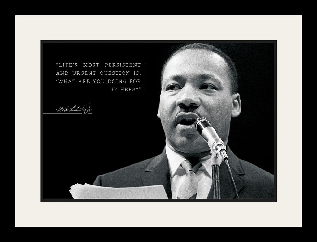 Martin Luther King Jr Poster Framed Photo Famous Quotes Lifes