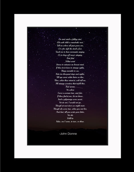 John Donne Go And Catch Poster, Print, Picture or Framed Photograph