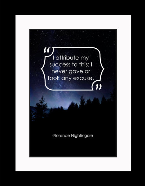 Florence Nightingale I Attribute My Poster, Print, Picture or Framed Photograph