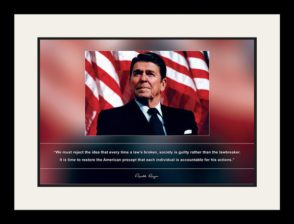 "Ronald Reagan - Photo, Picture, Poster or Framed Famous Quote ""We must reject the idea"""