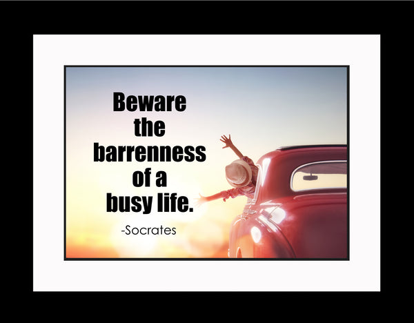 Socrates Beware The Barrenness Poster, Print, Picture or Framed Photograph